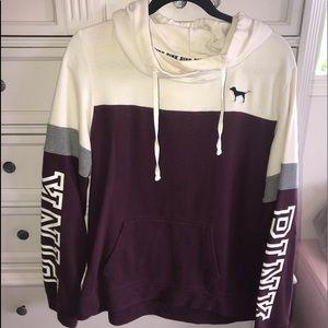 PINK hoodie/cowlneck